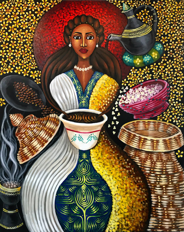 Image result for afro painting regal